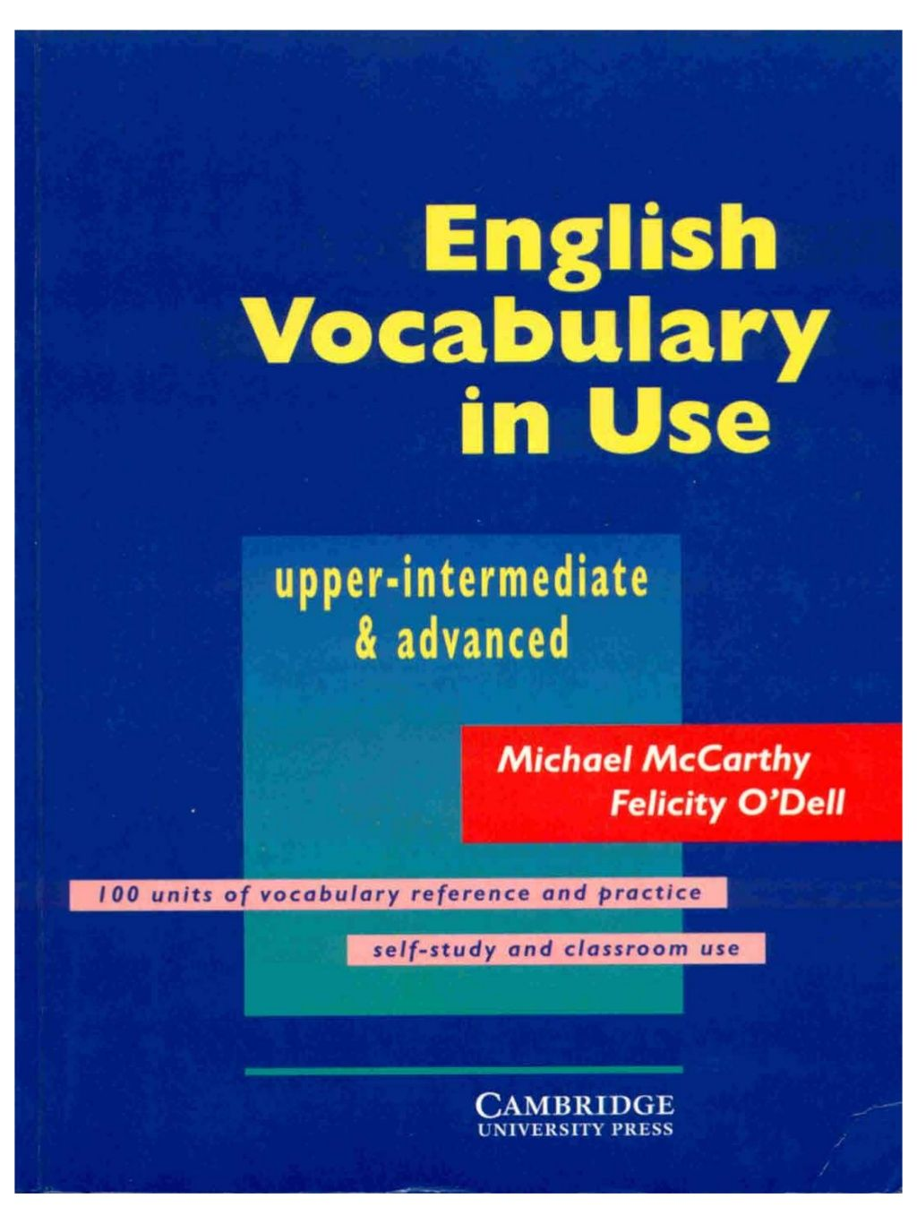 English Vocab In Use Upper Intermediate And Advnaced