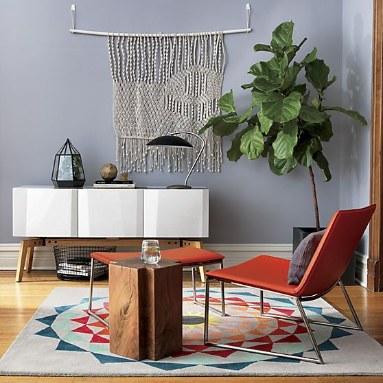 Style underfoot. From minimalist modern rugs and chic hall runners, to decorative rugs with bold colors and graphics, CB2 makes adding style to your space simple.
