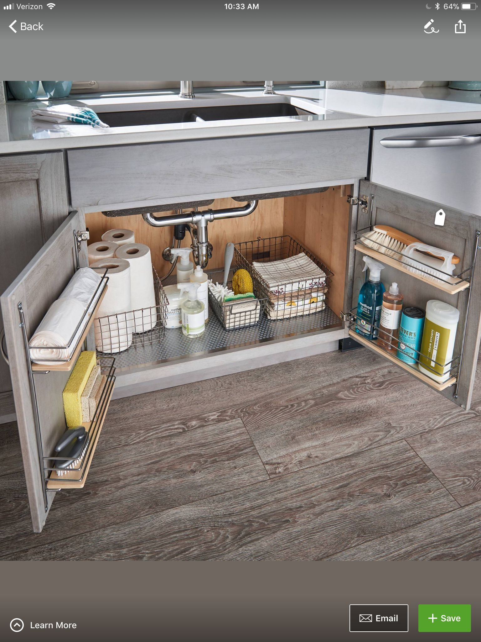 Under Kitchen Sink Storage Kitchen Sink Storage In 2020 Under Kitchen Sinks Kitchen Sink Storage Under Kitchen Sink Storage