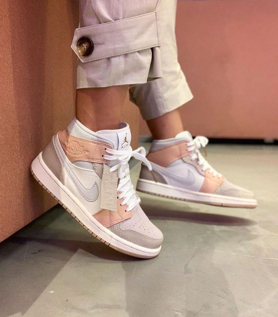 Jordan 1 Mid Milan In 2020 Sneakers Fashion Nike Shoes Women Jordan Shoes Girls