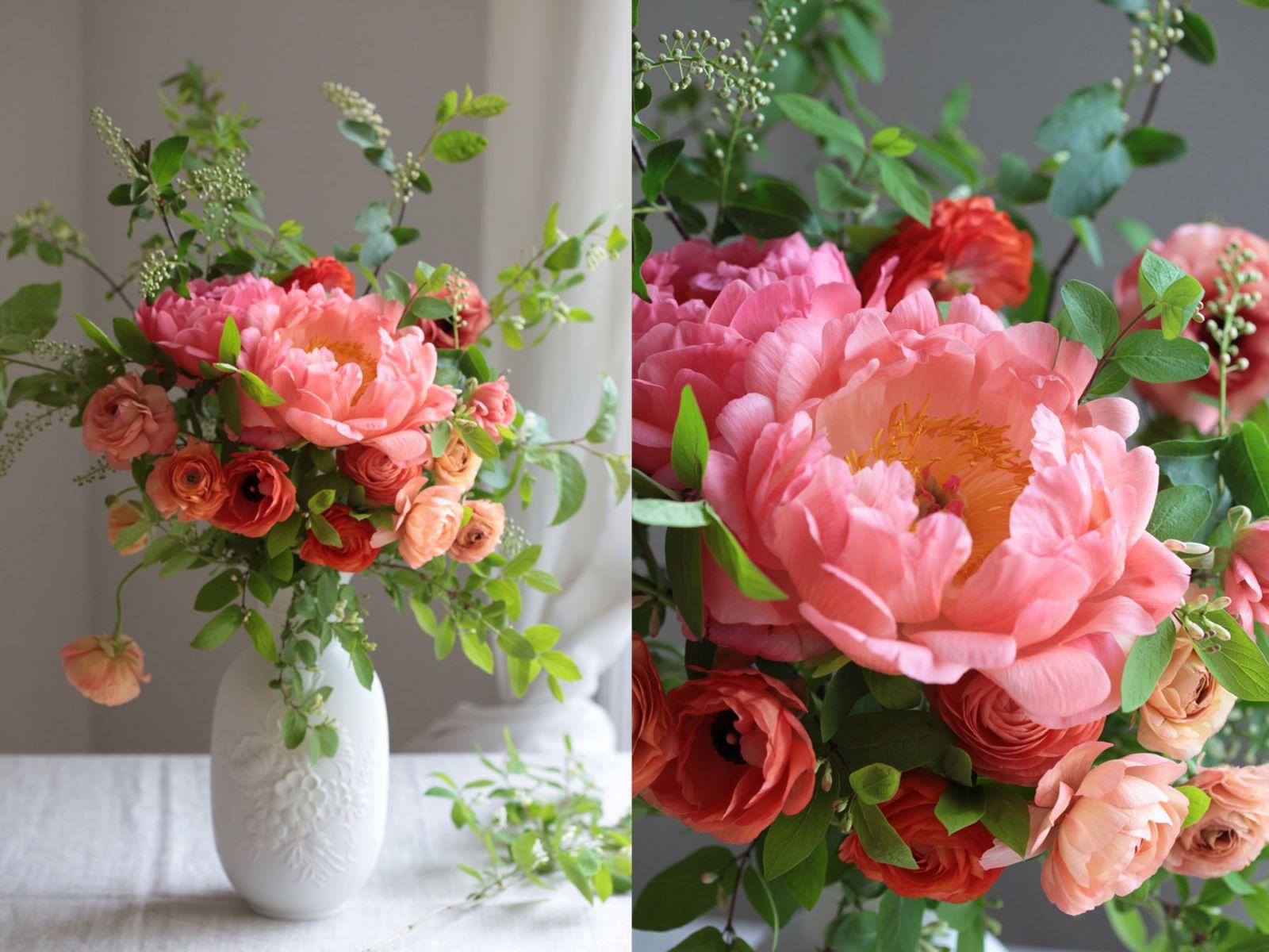Scarletus table weddingbec pinterest beautiful flowers coral