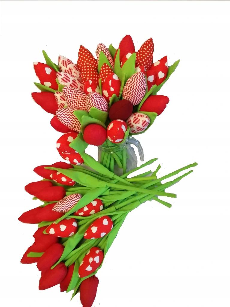 Tulipany Szyte Z Materialu Recznie Robione 6675274219 Allegro Pl Diy Plants