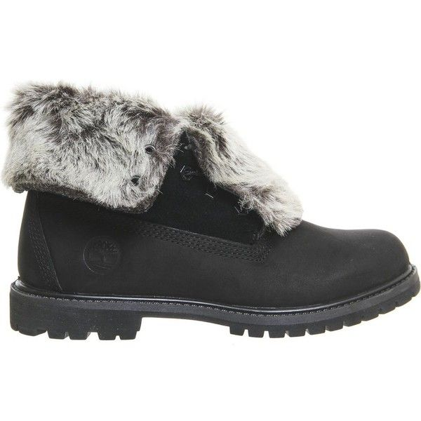 TIMBERLAND Leather faux-fur fold-down