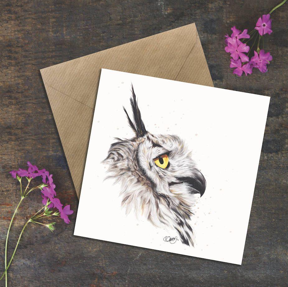 Wildlife Badger Square Blank Greeting Card