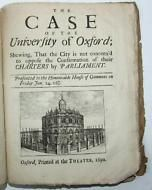 1690, Defence of the Rights Privileges of the University of Oxford, City vs Uni.