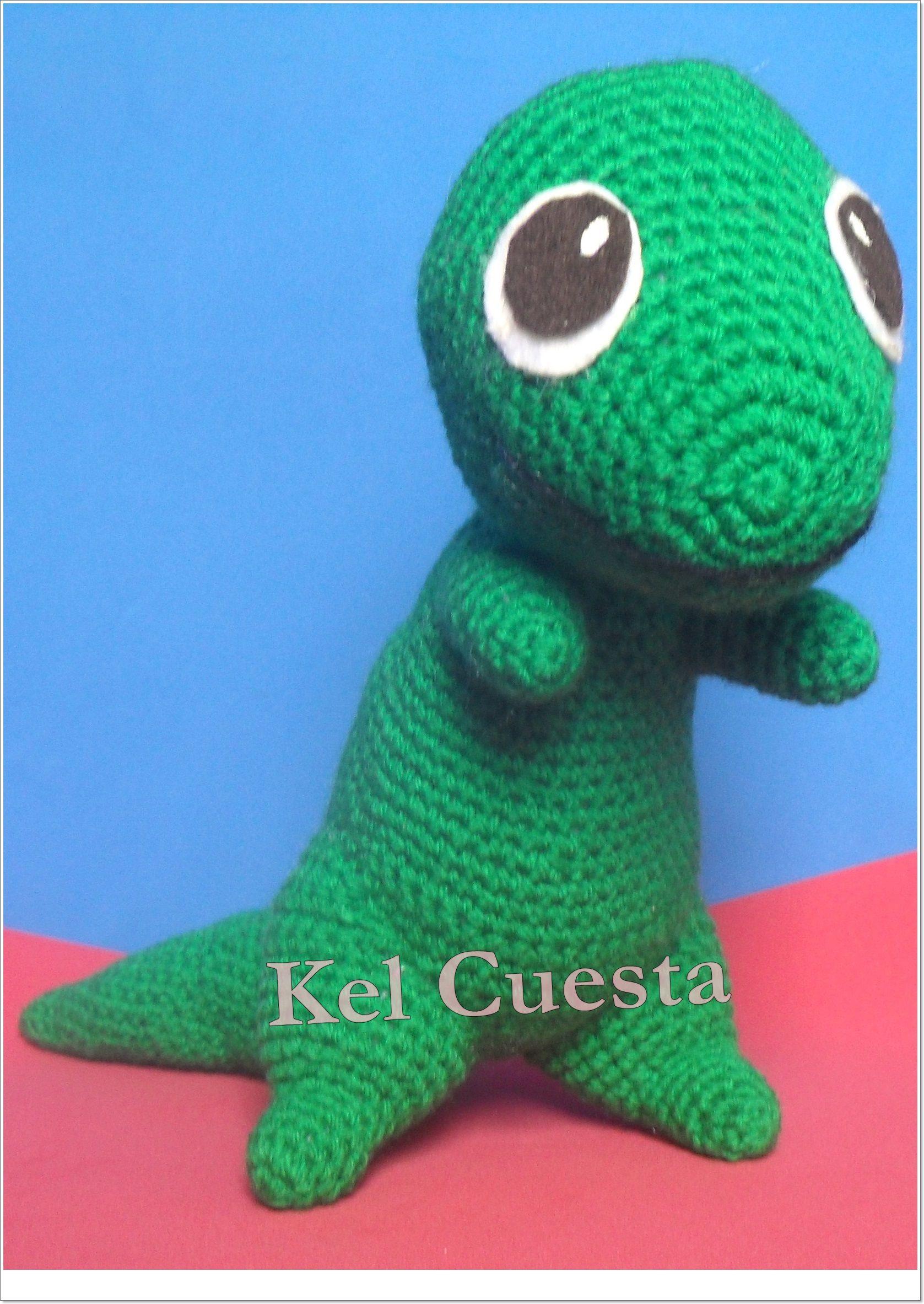 Dinossauro em crochê - amigurumi