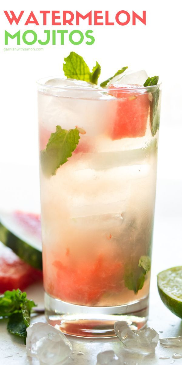 We combined two of our summer loves – watermelon and mojitos – to make these easy, refreshing Watermelon Mojito Cocktails!