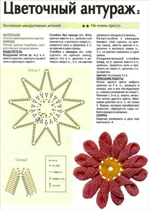 Patrones Crochet: Flores de Crochet con Petalo doble | Threads and ...