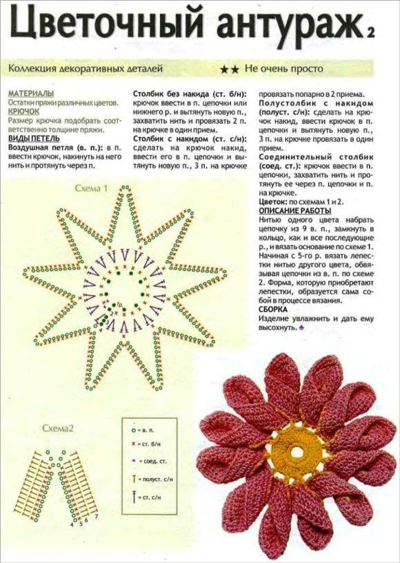 Patrones Crochet: Flores de Crochet con Petalo doble | Crochet ...