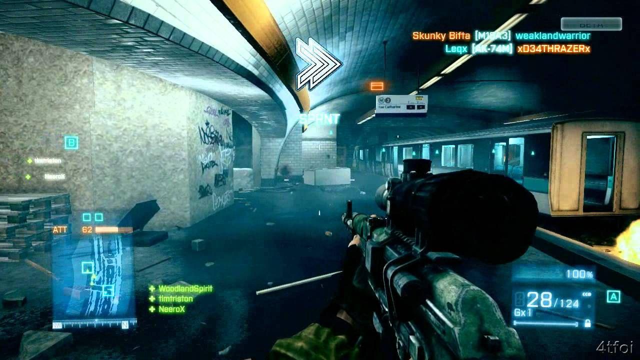 Battlefield 3 Beta Gameplay Xbox 360 Playing As Assault 4