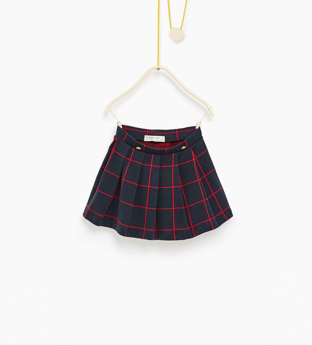 ZARA - KIDS - Checked box pleat skirt