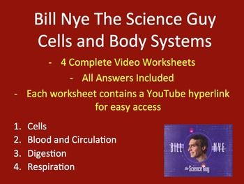 Bill Nye Video Worksheets Four Biology Cells And Body