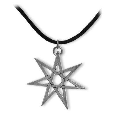 Heptagram sterling silver pendant necklace wire pinterest heptagram sterling silver pendant necklace aloadofball Choice Image