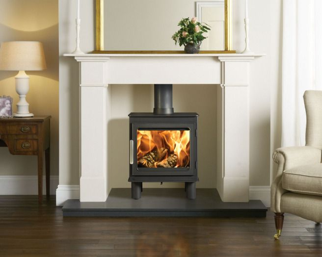 Photo of classic warmth stovax living room sitting room - Living room with wood burning stove ...