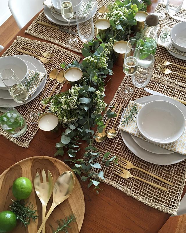 Australia Day table styling Christmas table centerpieces