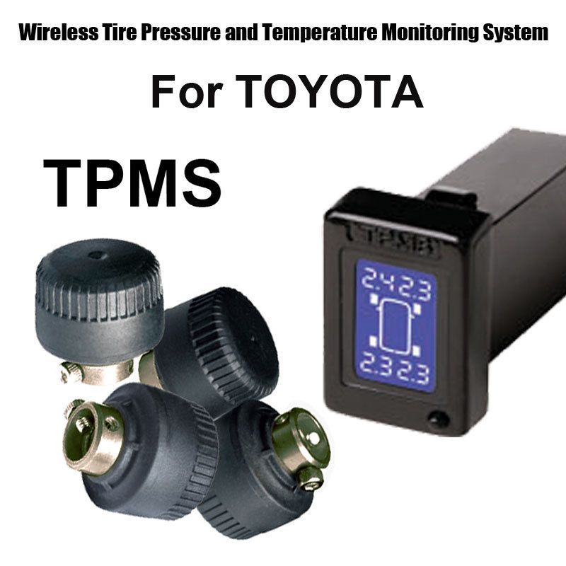 Profession Car Auto Tpms Tyre Pressure Monitoring System For Toyota With 4pcs External Sensor Tire Pressure Monitoring System Toyota Car Electronics