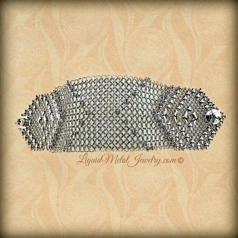 Melisandre Chain Mail Bracelet Chainmail bracelet, Metal