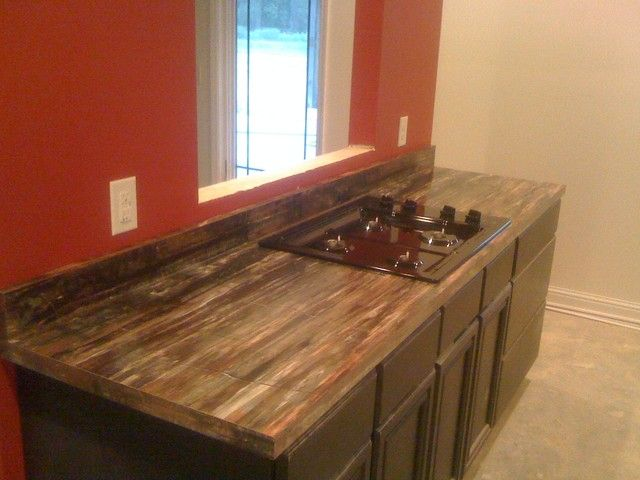 PETRIFIED WOOD FORMICA LAMINATE COUNTERTOP Modern Kitchen