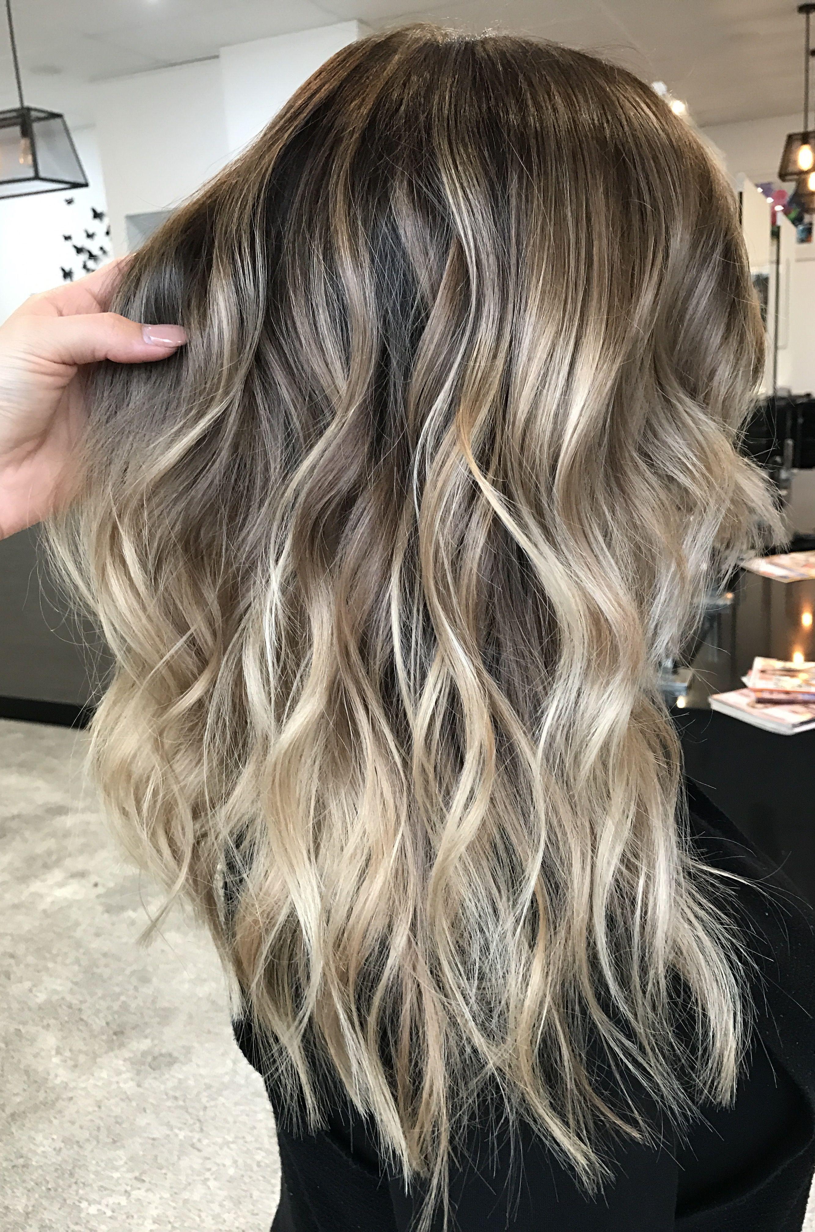 Instagram hairbykaitlinjade blonde balayage long hair cool girl