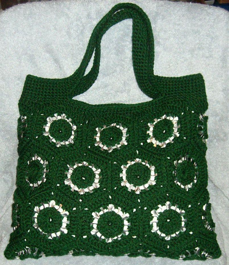 pop tab motif purse bags purses pinterest bolsos. Black Bedroom Furniture Sets. Home Design Ideas