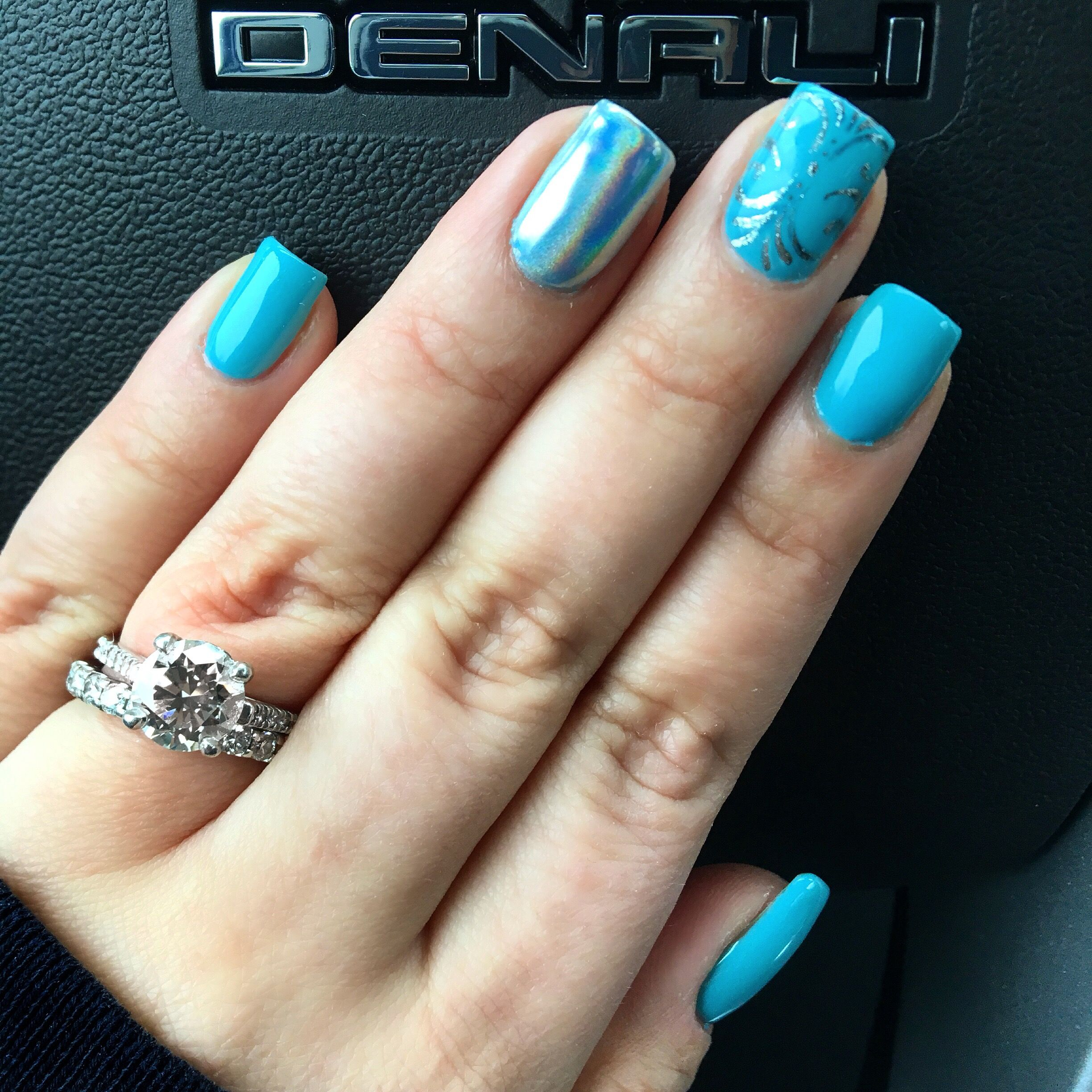 Blue nail design nail art and designs by Lorraine Cortes of The Look ...