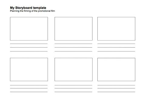 Place My Space Promote Your Day Out With Film Storyboard Template