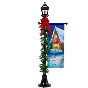 lamp post christmas decoration ideas | Outdoor Halloween Lamp Post ...