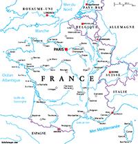 carte de france à imprimer avec villes Carte de France avec villes et fleuves | Carte de france à
