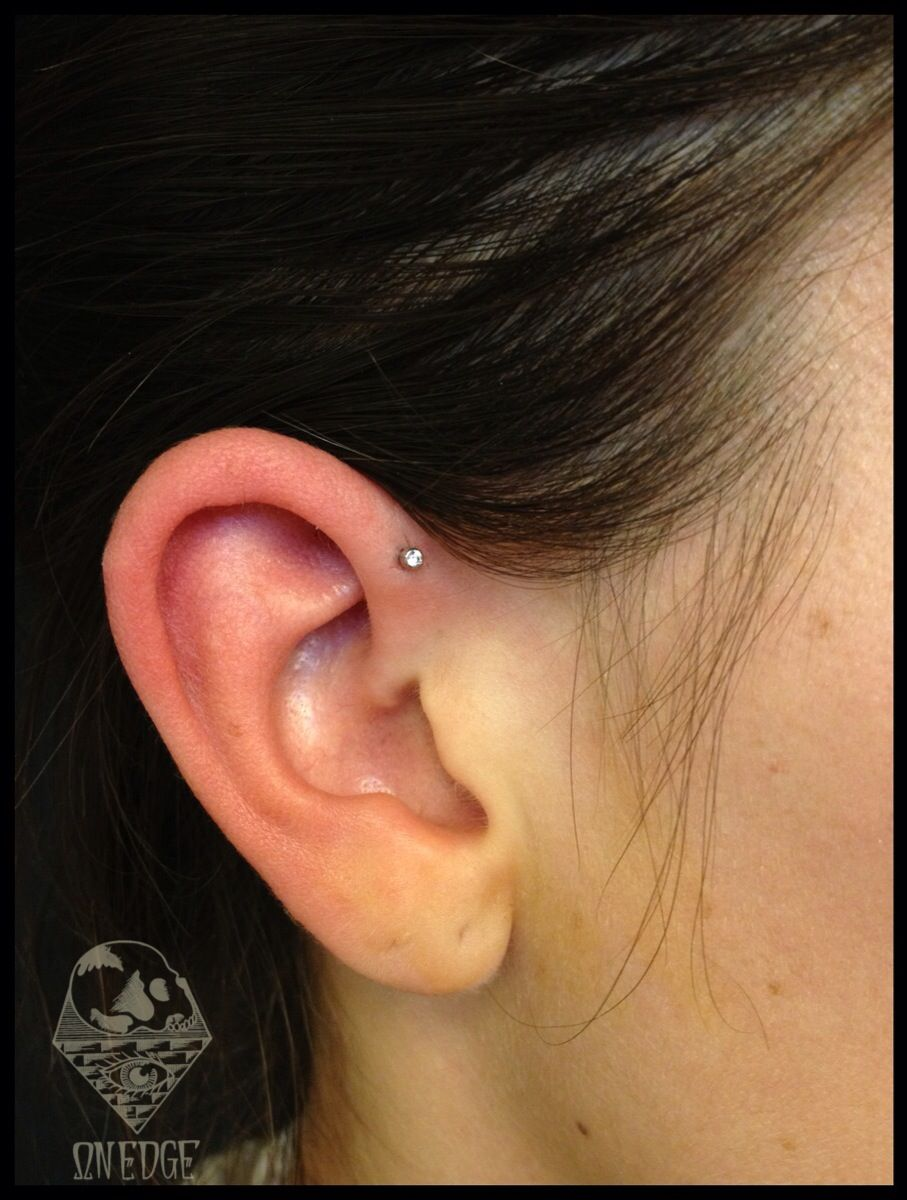 Fresh Forward Helix With Industrial Strength Jewelry Tattoos