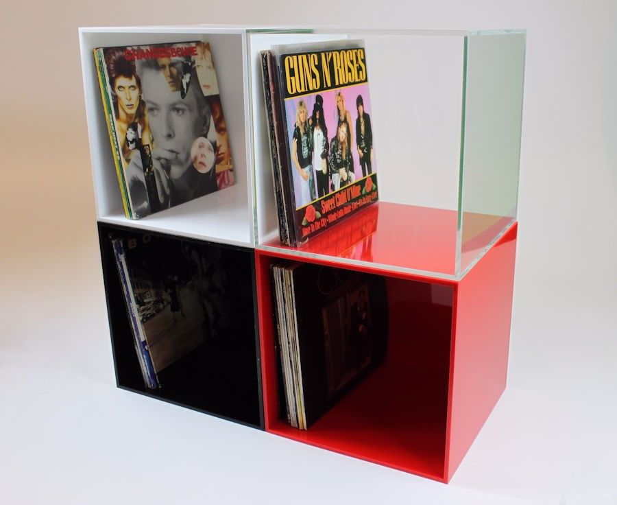 Vinyl Record Lp Storage Cubes Will Comfortably Store 80 Lps Within Sleeves Cube Storage Lp Storage Record Storage
