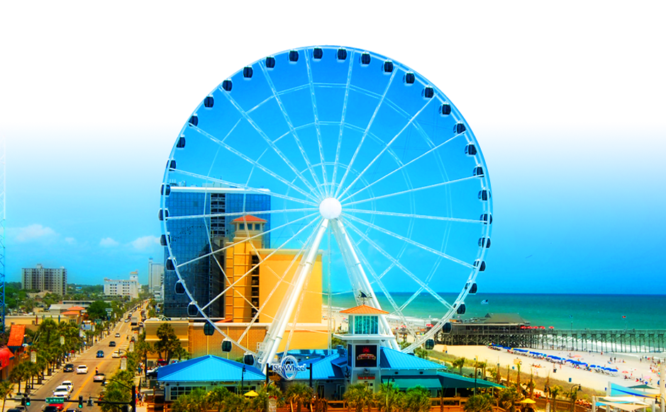 Skywheel Myrtle Beach Sc Slightly Terrifying At First I M Scared Of Heights