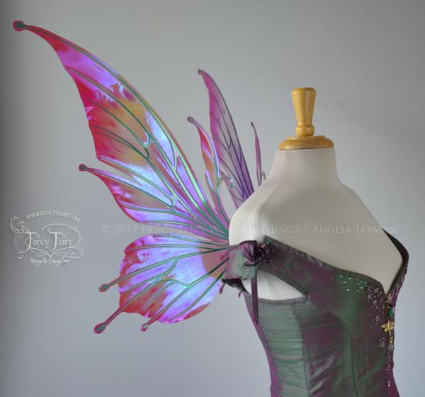 Flora Pink Fuchsia Iridescent Flower Fairy Wings In 2020 Flower Fairy Wings Fuchsia Flower Fairy Wings