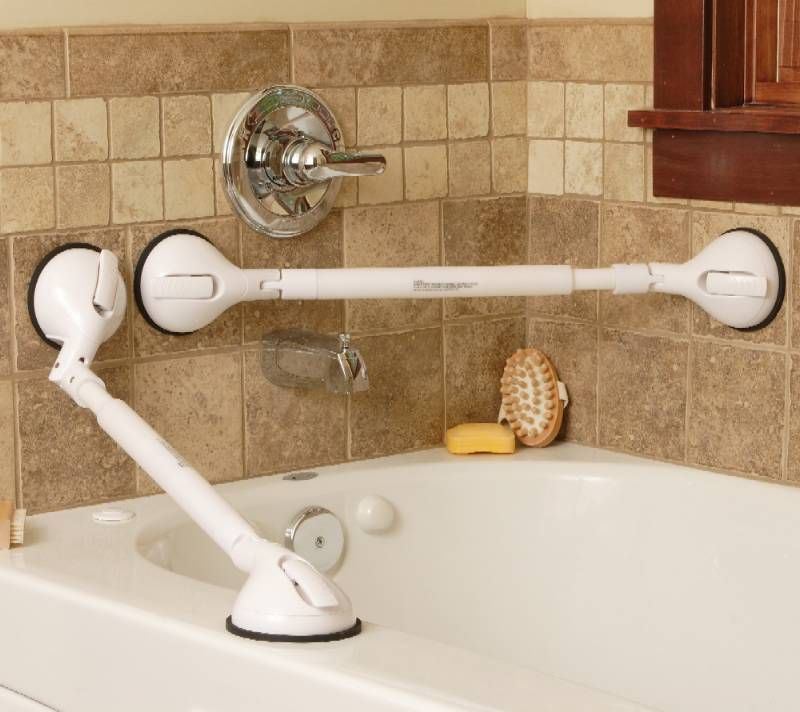 Suction cup grab bars play an important role for bathroom safety ...