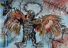 Neo expressionism painting 2 x signed Jean Michel Basquiat w COA