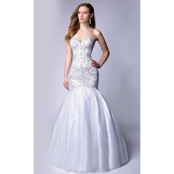 Envious Couture 15347 Christmas Dress Long Strapless Sleeveless ...