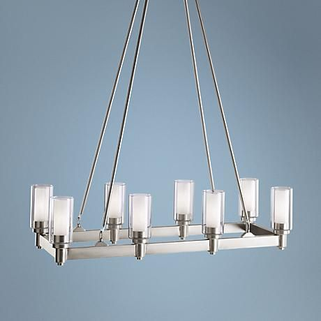 Light Over Kitchen Island   Option 1 Of 2 Kichler Circolo Silver Large  Contemporary Chandelier