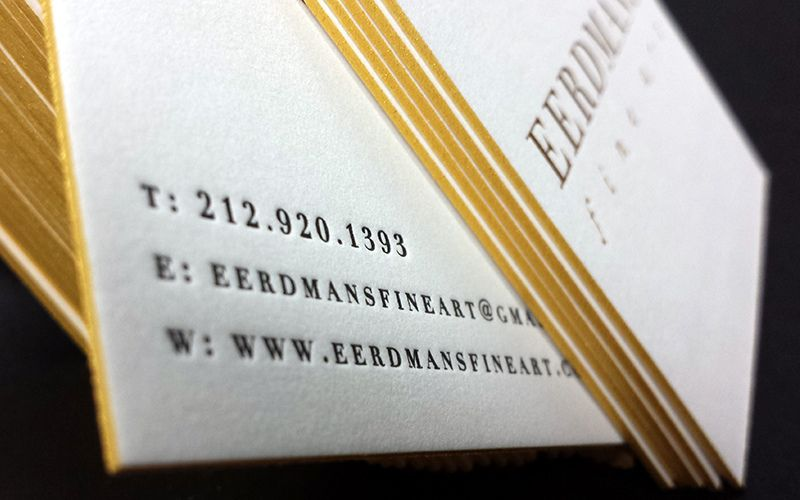 Emily Fine Art 2 Letterpress Business Cards Letterpress Painting Edges