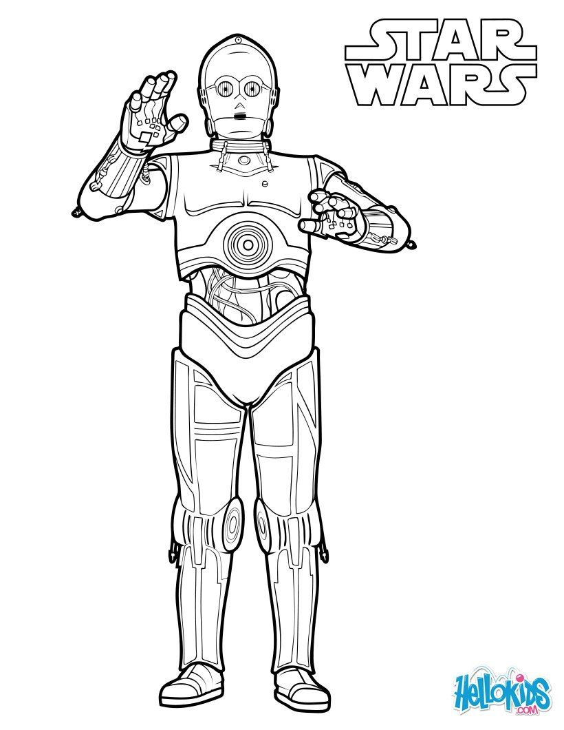 c3po coloring pages C 3PO coloring page. More Star Wars coloring sheets on hellokids  c3po coloring pages