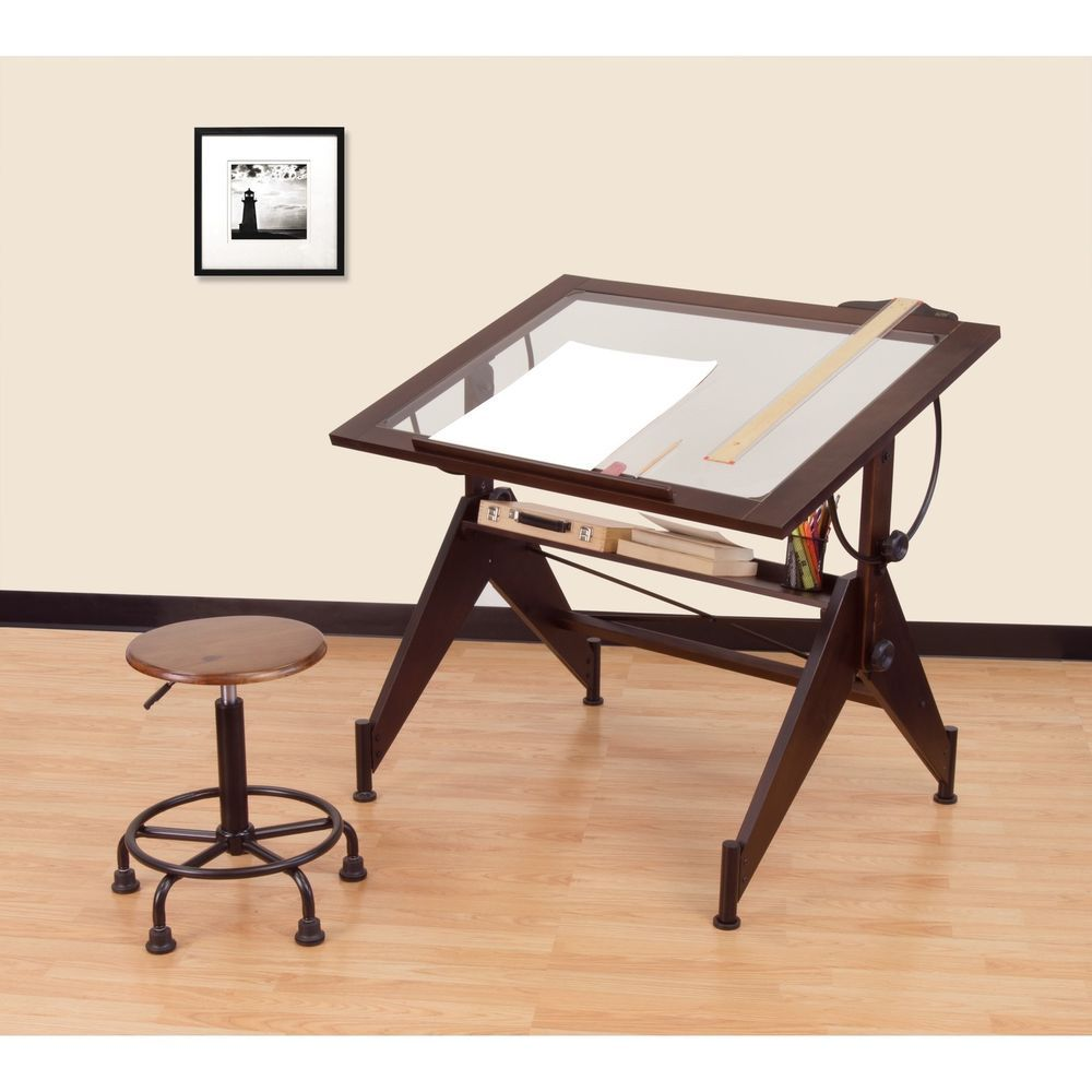 Studio Designs Aries Glass Top Drafting Table Crafts Art Supplies Drawing Amp Lettering Supplies Ebay Aries Glass Drafting Table Glass Top