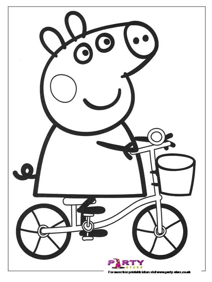 Imgenes para colorear de Peppa Cerdita  pepa  Pinterest  Pig mask