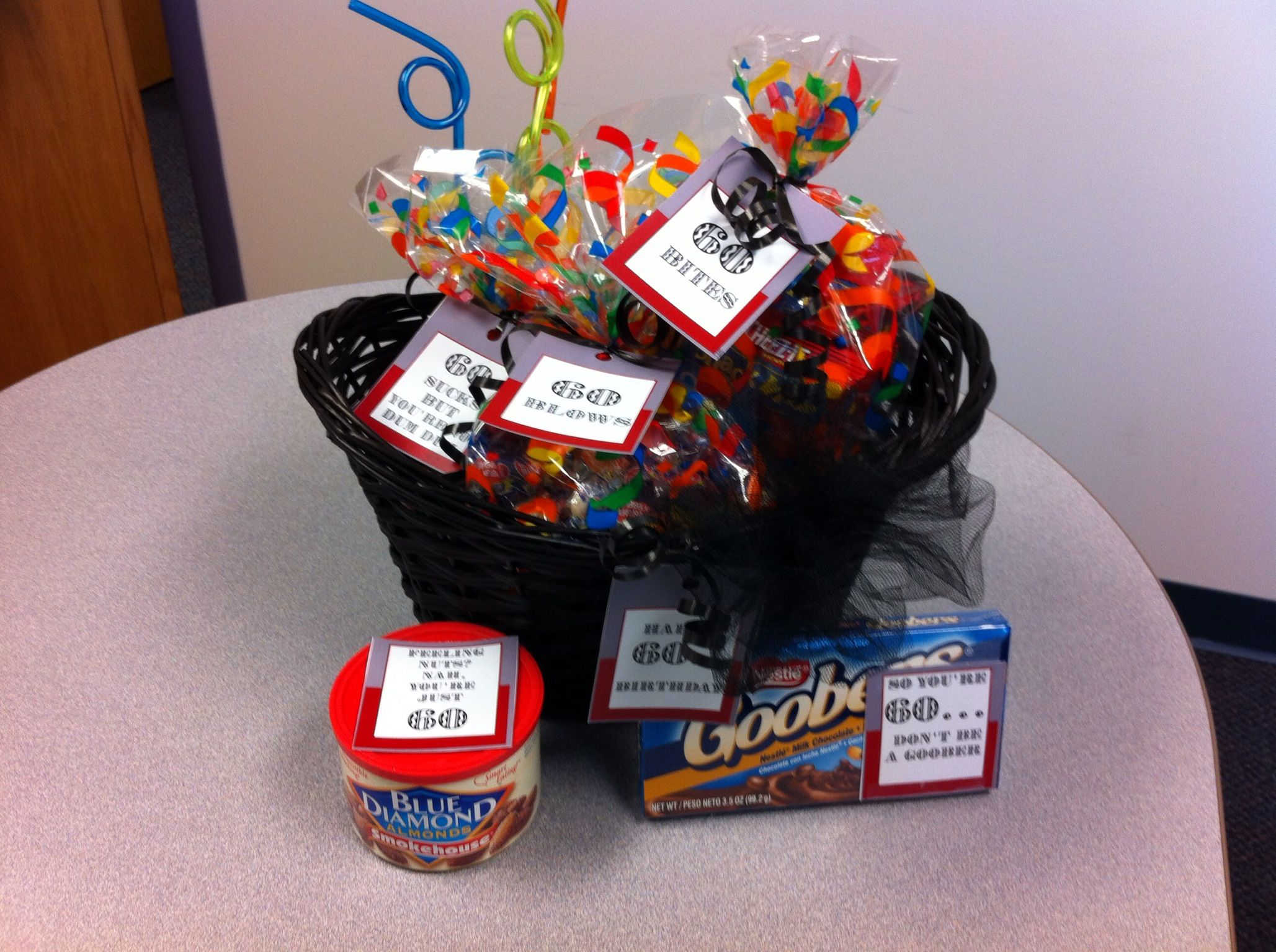 60th birthday t basket Gift Ideas Pinterest