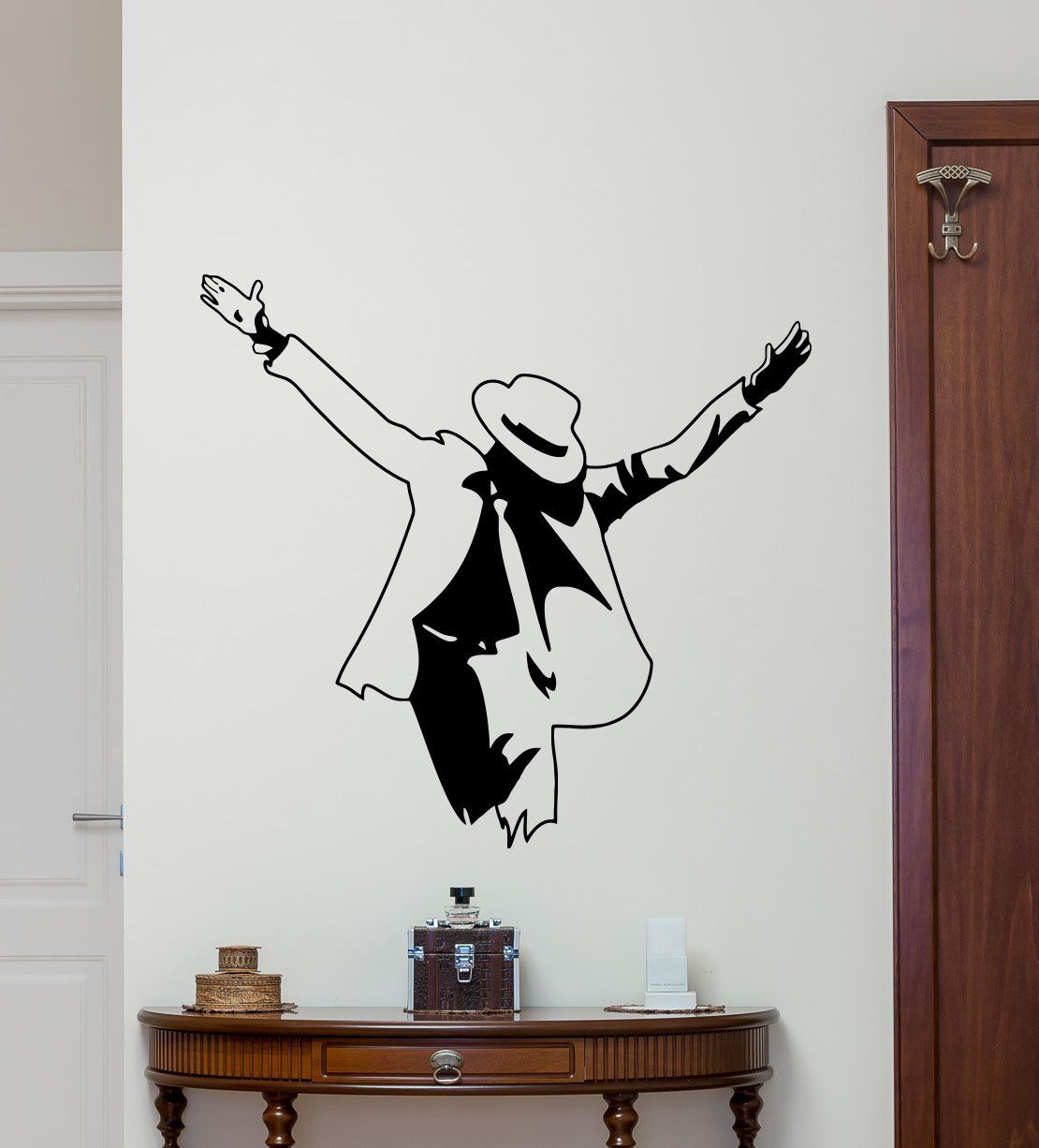 Teenage boys room wall art - Michael Jackson Wall Decal Moonwalker Poster Print King Of Pop Music Poster Vinyl Sticker Kids Teen Boy Room Nursery Bedroom Wall Art Decor Mural Awesome