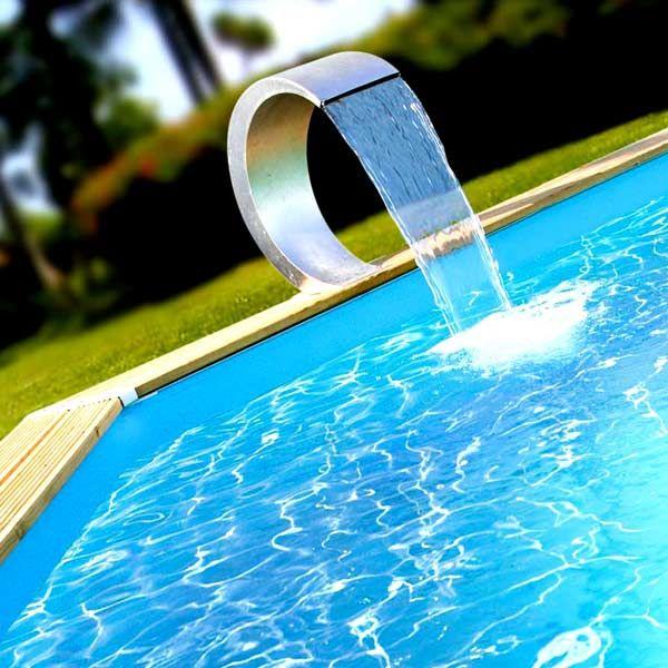 Jet D Eau Piscine Hors Sol jet d'eau cascade éclairée pour piscine cobra led - maison facile