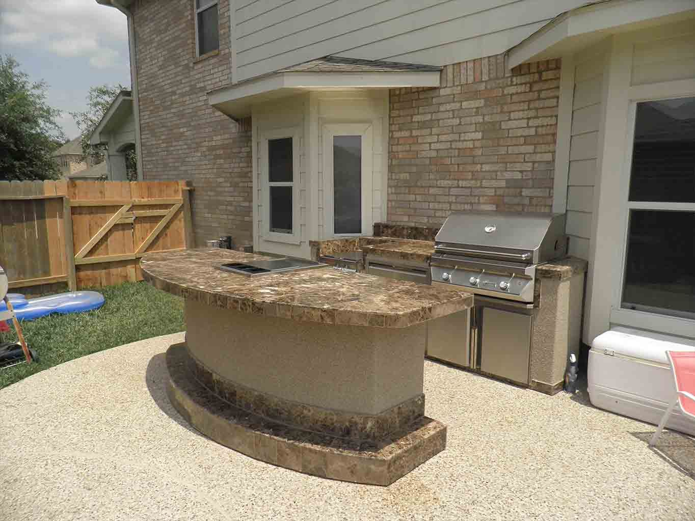 outstanding outdoor kitchens backyard patio with breathtaking ... - Patio Grill Ideas