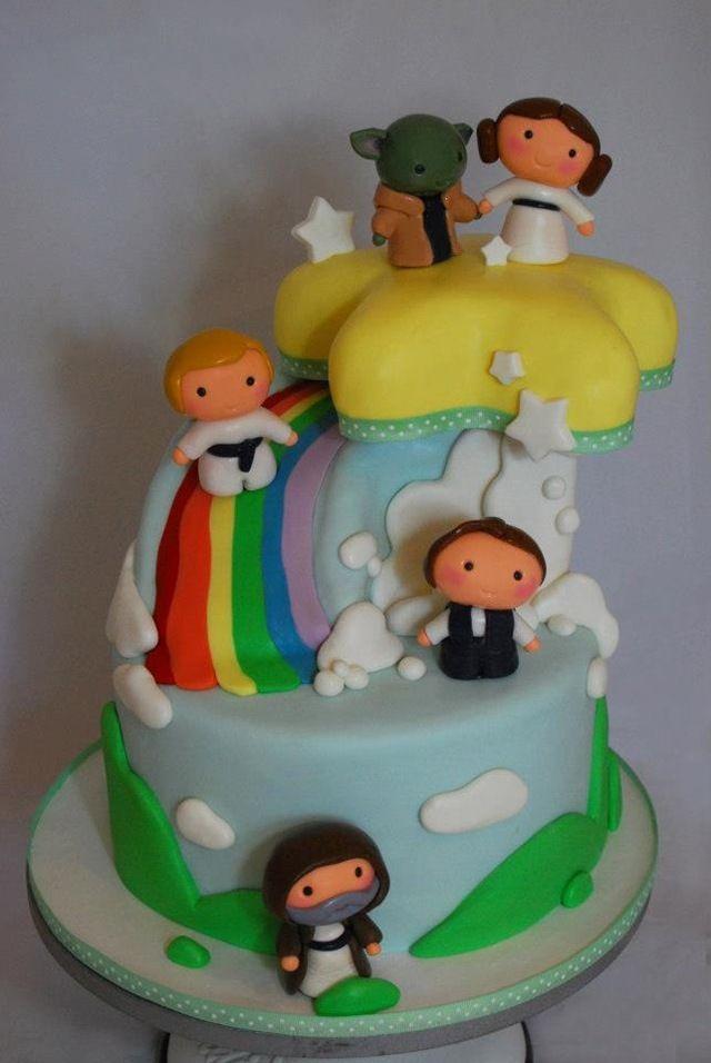 Attractive Star Wars Baby Shower Cake