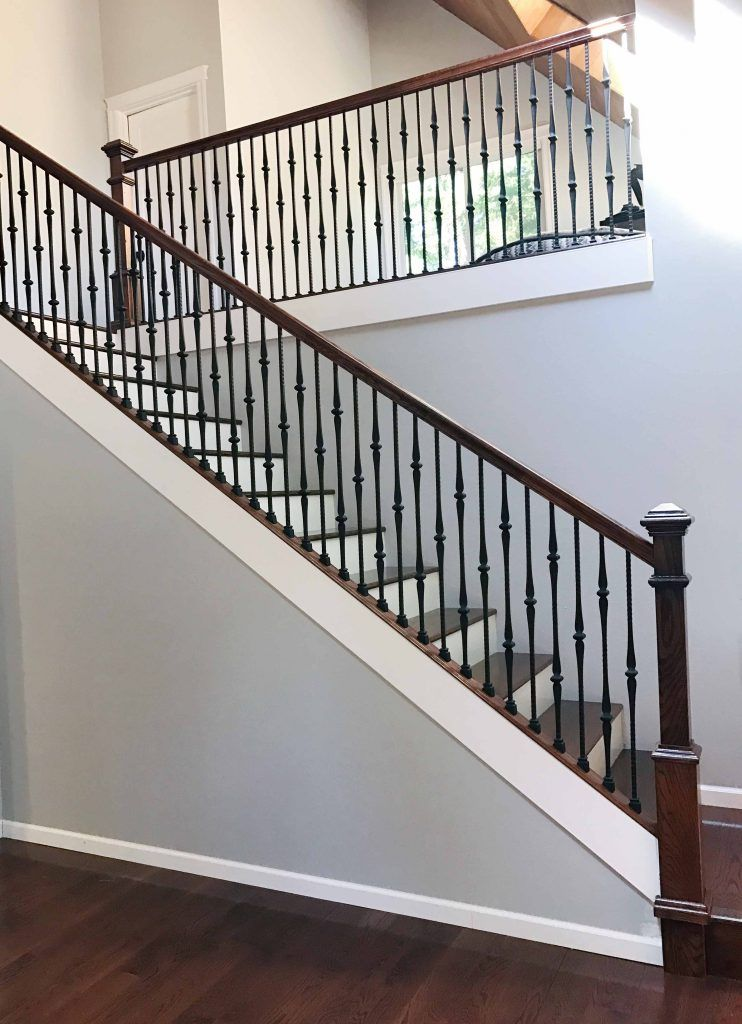 Project 258 Gothic Iron Balusters Shoes Stair Railing