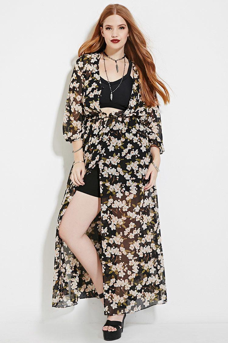 0f7c23d840d1 Plus Size Floral Maxi Dress