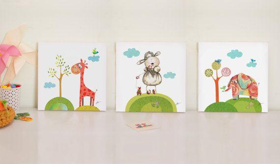 Canvas Prints For Baby Room nursery print set baby room prints nursery canvas artbabooart