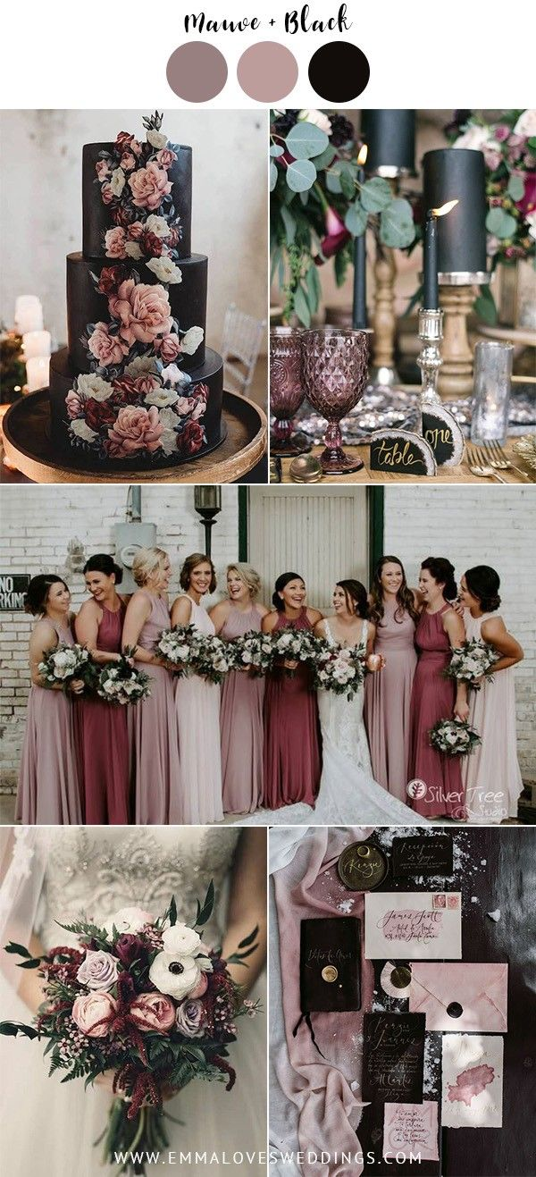 mauve and black vintage wedding color ideas #emmalovesweddings #weddingideas2019