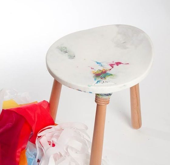 A briliiant reuse by Shani Langberg: REmains: making furniture out of scrap fabric
